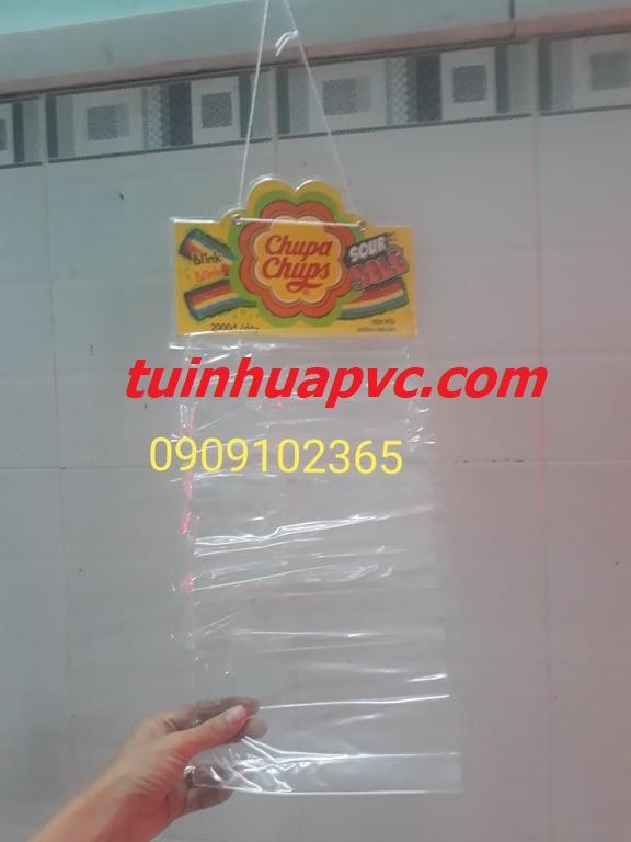 Mẫu ép vỉ treo quảng cáo nhựa pvc
